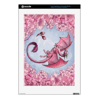 """Dragon of Spring"" Flowers Fantasy Art PS3 Decal"