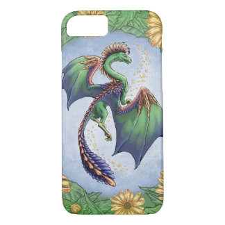 """""""Dragon of Summer"""" Flowers and Leaves Fantasy Art iPhone 7 Case"""