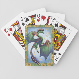 """""""Dragon of Summer"""" Flowers Fantasy Art Playing Cards"""