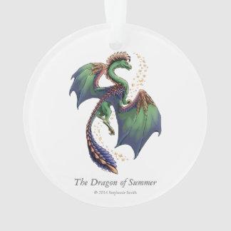 Dragon of Summer Nature Fantasy Art Ornament