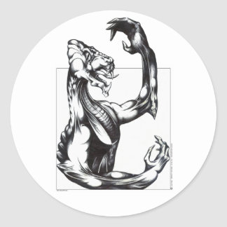 Dragon of the Light Classic Round Sticker