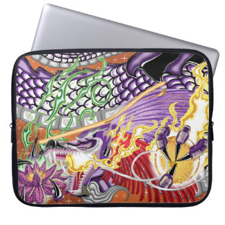 Dragon Of The Lotus Neoprene Laptop Sleeve