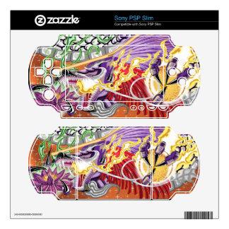 Dragon Of The Lotus PSP Slim Skins