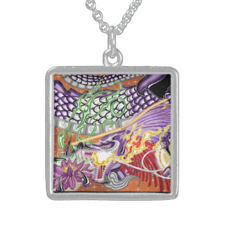 Dragon Of The Lotus Sterling Silver Necklace