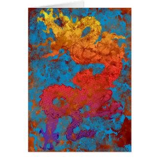 Dragon-on-blue Card