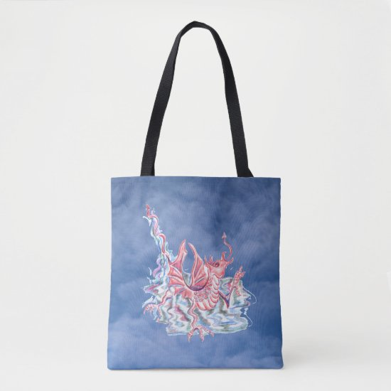 Dragon on Blue Sky Tote Bag