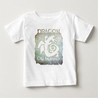 DRAGON ON BOARD! baby tee #9 white