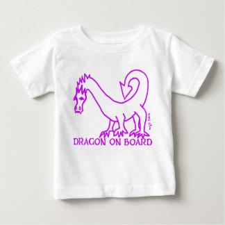 DRAGON ON BOARD! baby tee MAGENTA 2