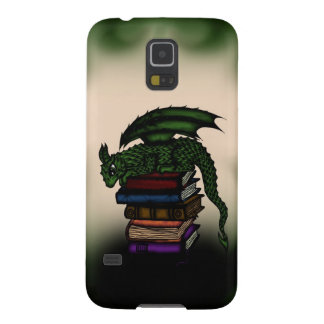 Dragon on Books Cases For Galaxy S5