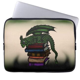 dragon on books laptop sleeve