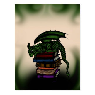 Dragon on Books Postcard