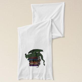 dragon on books scarf