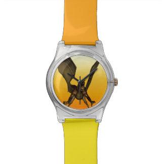 Dragon on Fiery Sky Wristwatches