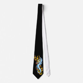Dragon on Flame Tribal by RyuNeko-Artz.com Neck Tie