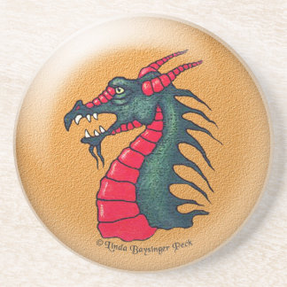 Dragon on Gold Color Drink Coaster
