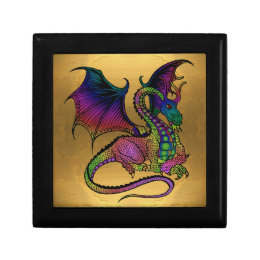 dragon on gold gift box