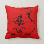 Dragon on red pillow