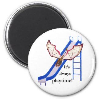 Dragon on Slide 2 Inch Round Magnet