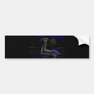Dragon on the Lake Bumper Sticker