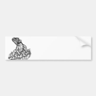 Dragon on the Rock Bumper Sticker