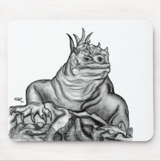 Dragon on the Rock Mouse Pad