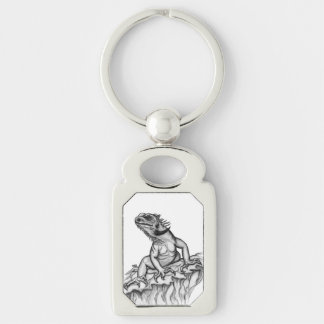 Dragon on the Rock Keychain
