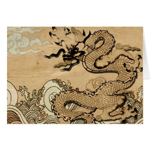 Dragon on the Water Note Card