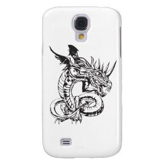 Dragon on White Samsung Galaxy S4 Case