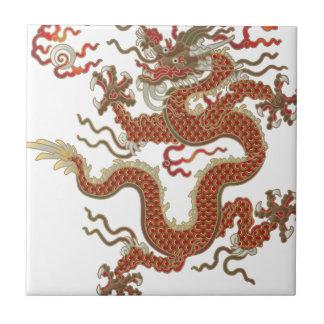 Dragón oriental azulejo cuadrado pequeño