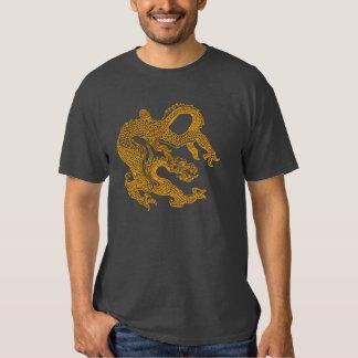 Dragón oriental de oro 01 poleras