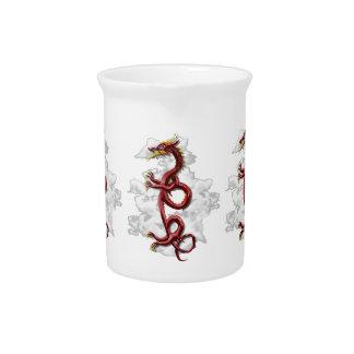 Dragón oriental jarra de beber