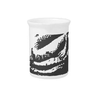 dragón oriental jarra para bebida