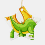 Dragon Double-Sided Star Ceramic Christmas Ornament