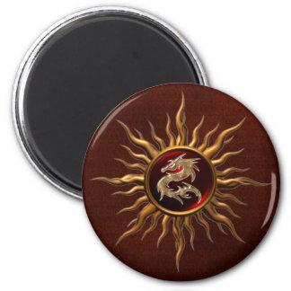 Dragón ornamental de Sun Imán Redondo 5 Cm