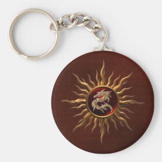 Dragón ornamental de Sun Llavero Redondo Tipo Pin