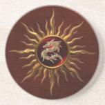 Dragón ornamental de Sun Posavasos Manualidades