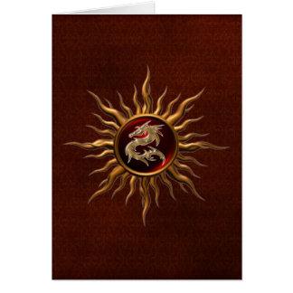 Dragón ornamental de Sun Tarjeta De Felicitación