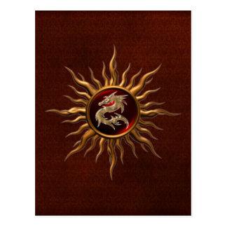 Dragón ornamental de Sun Tarjeta Postal