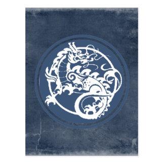 Dragón ornamental tarjeta postal