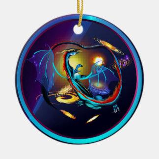 Dragón-Ornamento azul de la galaxia Adorno De Reyes