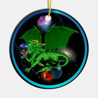 Dragón-Ornamentos verdes del universo Adorno