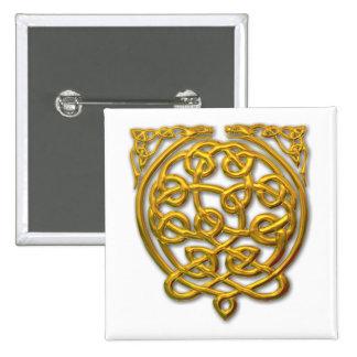 dragón-oro 2 pin cuadrado