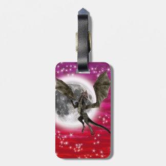 Dragón oscuro etiquetas de equipaje