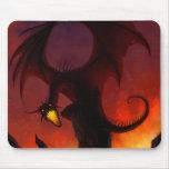 Dragón oscuro Mousepad Tapete De Raton