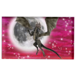 Dragón oscuro soporte para tarjeta de mesa