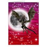 Dragón oscuro tarjeta de felicitación