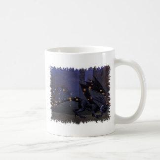 Dragón oscuro taza básica blanca