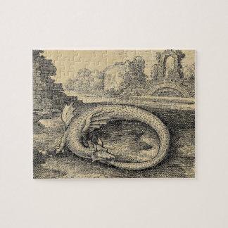 Dragon Ouroboros Serpent Jigsaw Puzzle