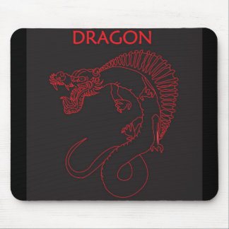 Dragon outline mouse pad