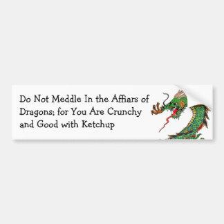Dragón pagano pegatina de parachoque